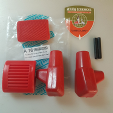 CASA LAMBRETTA RED STAND/KICKSTART/AND BRAKE PEDAL RUBBERS